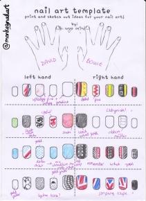 David Bowie Inspiration Sheet