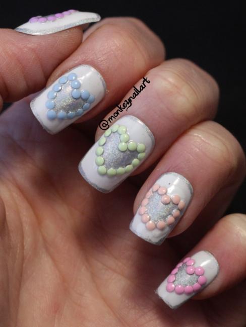 NAGG-2014-Day-13-hearts-holographic-born-pretty-store-pastel-studs-nail-polish-nails (1)
